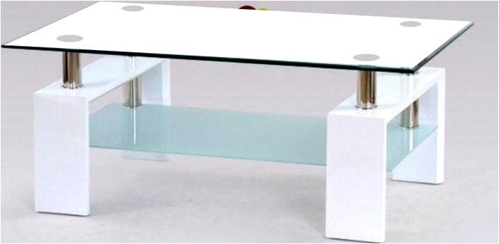 Konferenční stolek Diana Lisa bílý/bílé sklo - FALCO