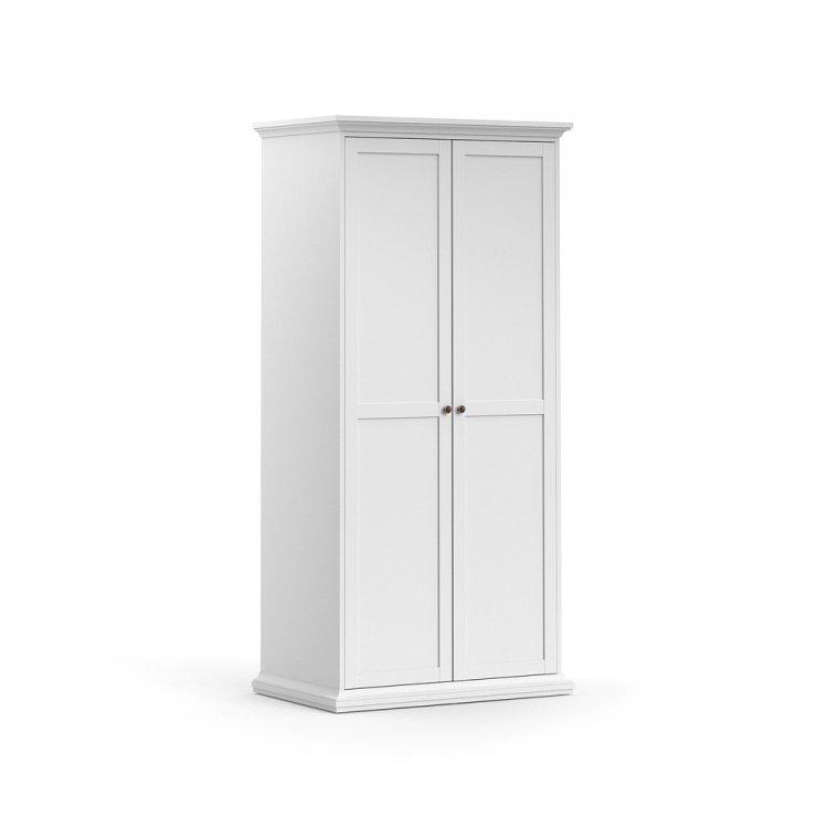 Šatní skříň Paris dvoudveřová 75352 bílá - TVI