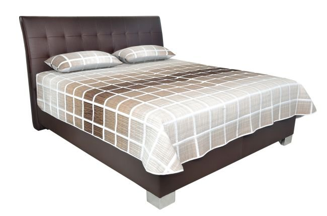 Čalouněná postel Sára 180x200 cm Brown - BLANAŘ