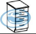 Eko dolní zásuvková skříňka 40D - FALCO