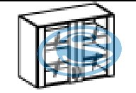 Chamonix horní prosklená skříňka 80GS - FALCO