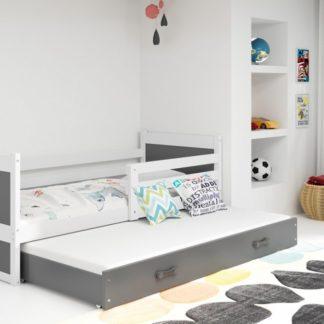 Dětská rozkládací postel Rico II 90x200 cm bílá - BM