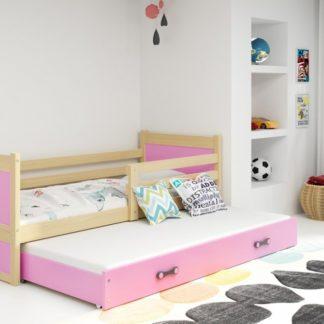 Dětská rozkládací postel Rico II 90x200 cm borovice - BM