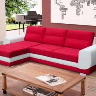 Rohová sedací souprava Kiri červeno-bílá - FALCO