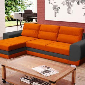 Rohová sedací souprava Kiri šedo-oranžová - FALCO