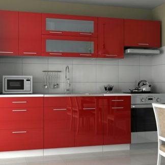 Kuchyňská linka Emilia 180/240 červená vysoký lesk - FALCO