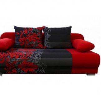 Rozkládací pohovka Lhasa červený květ - FALCO
