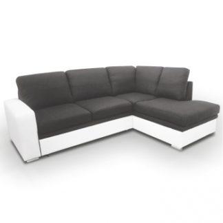 Rohová sedací souprava Waran bíločerná pravá - TempoKondela