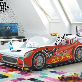 Dětská postel auto Cars červená 160x80 - BM