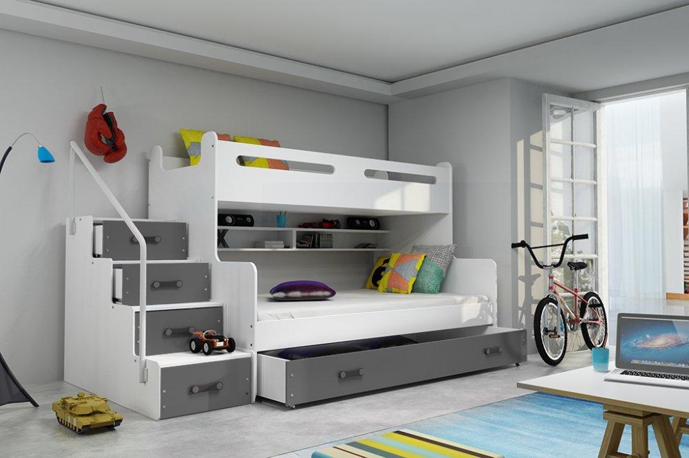 Dětská patrová postel Max 3 grafit - BM