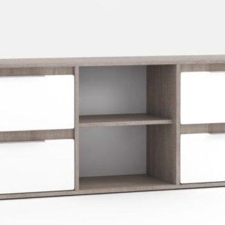 TV stolek Fado 4 roble/bílý lesk - FALCO
