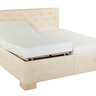 Čalouněná postel Jolanda 180x200 krémová koženka - PROKOND