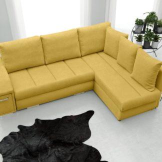 Rohová sedací souprava Arni s barem žlutá - FALCO