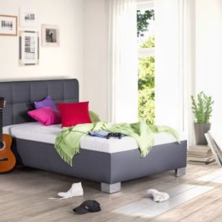 Čalouněná postel Kelly 140x200 šedá koženka - BLANAŘ