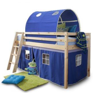 Dětská patrová postel Indigo modrá - TempoKondela