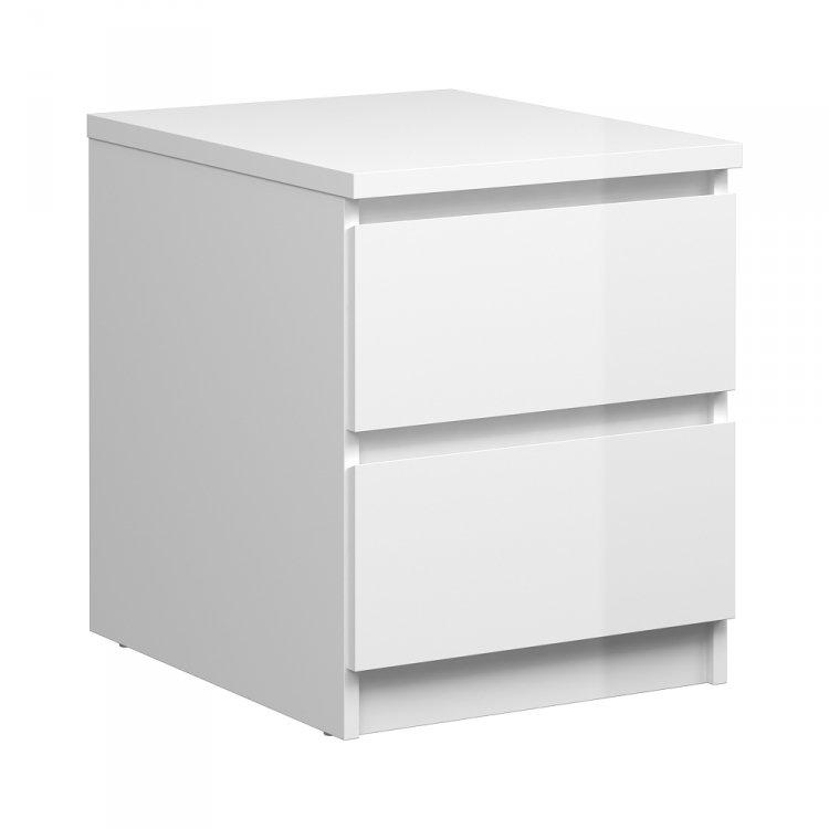 Noční stolek bílý lesk Naia 76230 - TVI