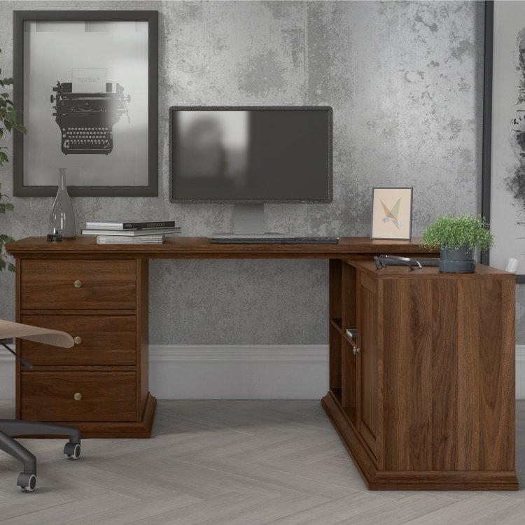 Rohový psací stůl  Paris 77822 ořech - TVI