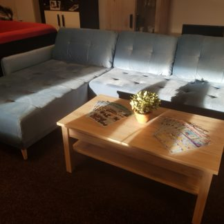 Rohová rozkládací sedací souprava Malmo modrá - WERSAL