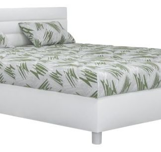 Čalouněná postel Spa 160x200 bílá - BLANAŘ
