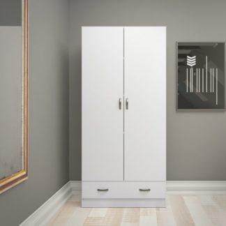 Bílá dvoudveřová šatní skříň 75088 - TVI