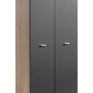 Šatní skříň Clif 2D san remo/grafit mat - HALMAR