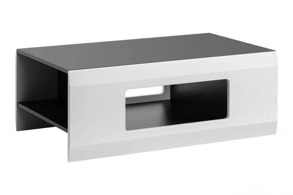 Konferenční stolek Clif grafit/bílý mat - HALMAR