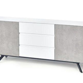 Komoda Stonno KM2 bílá/beton - HALMAR