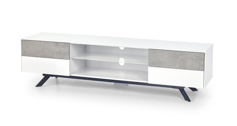 Komoda Stonno RTV1 bílá/beton - HALMAR