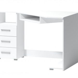 Rohový psací stůl Arta levý bílý - FALCO