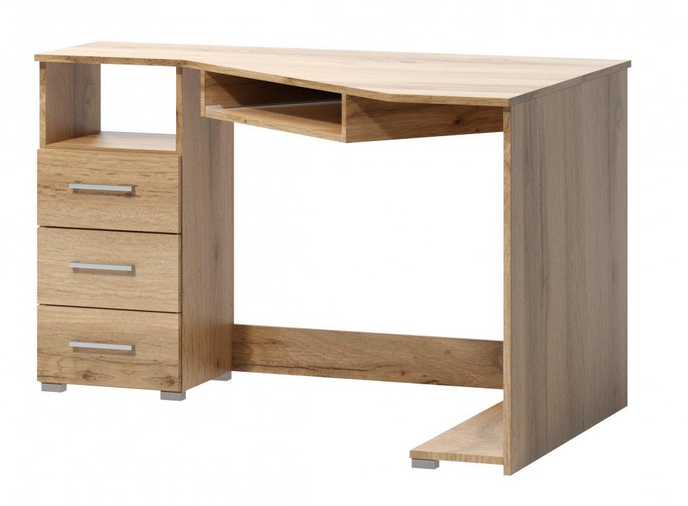 Rohový psací stůl Arta levý dub wotan - FALCO