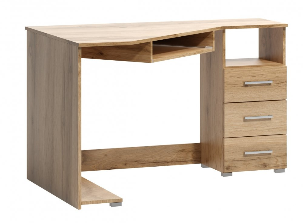 Rohový psací stůl Arta pravý dub wotan - FALCO
