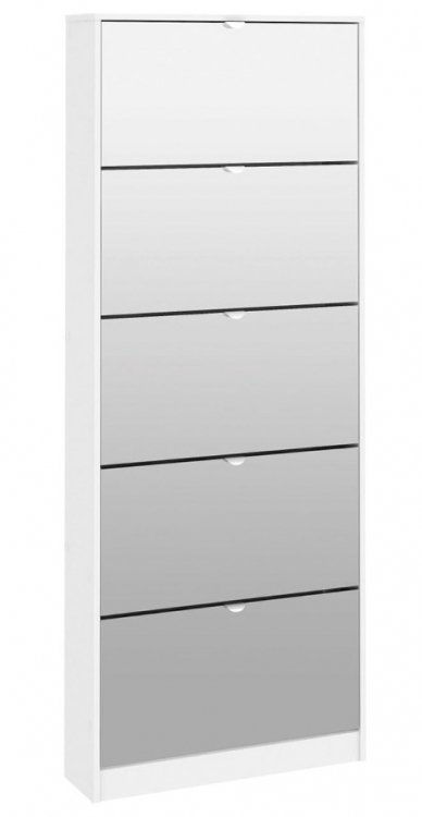 Botník se zrcadlem Bright 70052 bílý - TVI