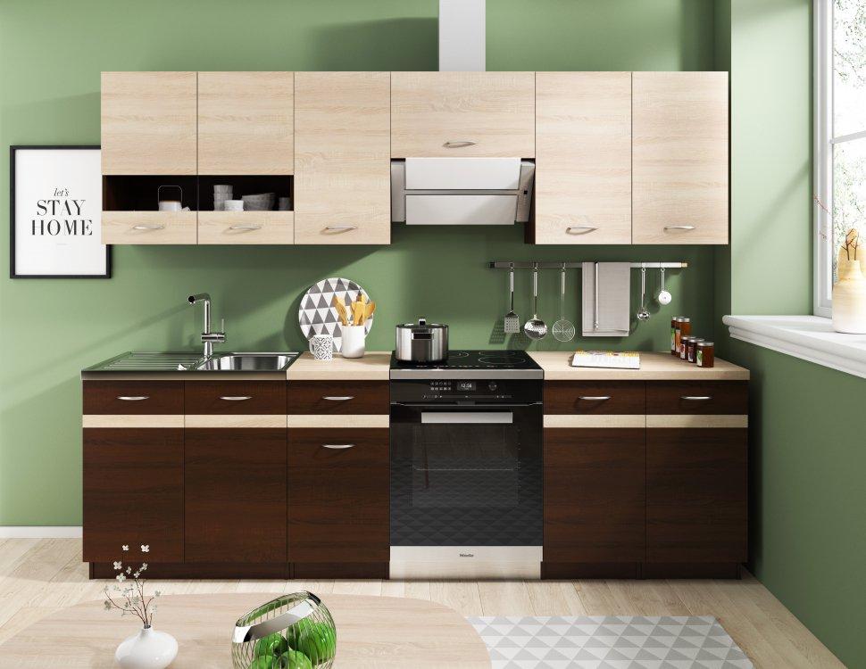 Kuchyně Lexus 180/240 dub sonoma světlá/tmavá - FALCO