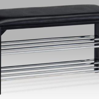 2-policový botník/taburet B83168-13 BK, černá
