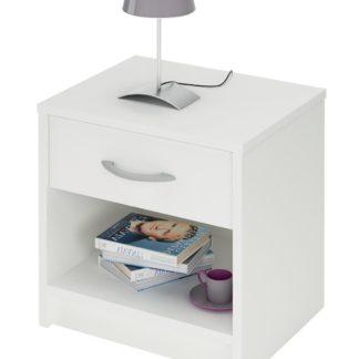 ISSIS, noční stolek, bílá