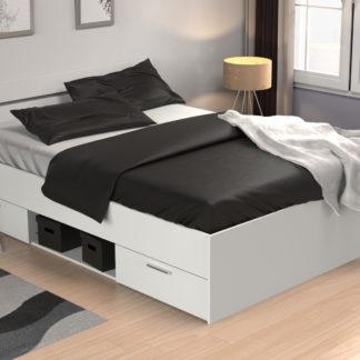 MACHIGAN postel 160x200, bílá
