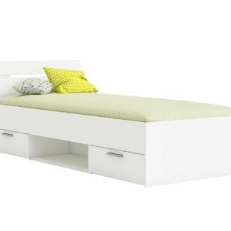MACHIGAN postel 90x200 cm, bílá