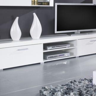 Televizní stolek SAMBA, bílá/bílý lesk
