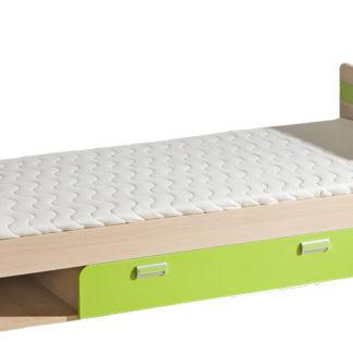 LORENTTO, postel L13, jasan/limetka,včetně matrace