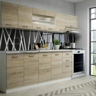 Kuchyně PERLA, 200/260 cm, dub sonoma