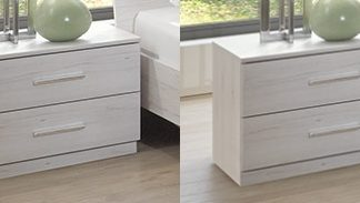 SUZAN, noční stolek (2 ks ), bílý dub