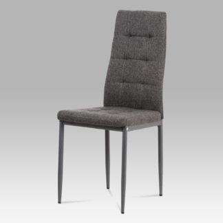 Jídelní židle DCL-397 GREY2, šedá látka/kov matný antracit