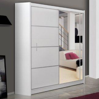 Šatní skříň s posuvnými dveřmi VISTA 150, bílá