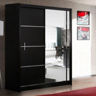 Šatní skříň s posuvnými dveřmi VISTA 150, černá