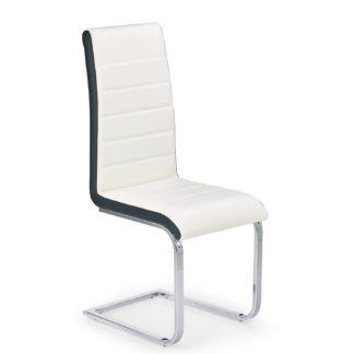 Židle K-132, bílo-černá