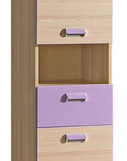 LORENTTO, skříňka L4, jasan/fialová