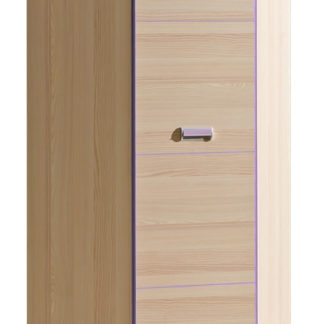 LORENTTO, rohová skříň L14, jasan/fialová
