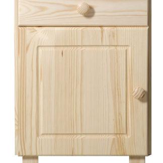 Noční stolek MEGA, masiv borovice, mořeni: ...