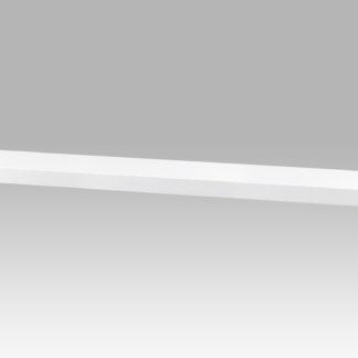 Nástěnná polička P-002 WT, 120cm, barva bílá - vysoký lesk