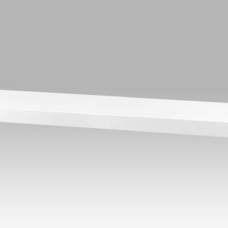 Nástěnná polička P-005 WT, 80cm, barva bílá- vysoký lesk
